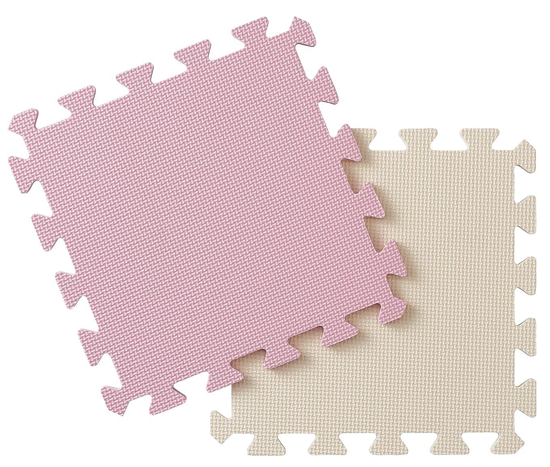 ゴルフ信念さておきパール金属 ジョイントマット ピンク 29.5×29.5cm ジョイント式 カラーマット