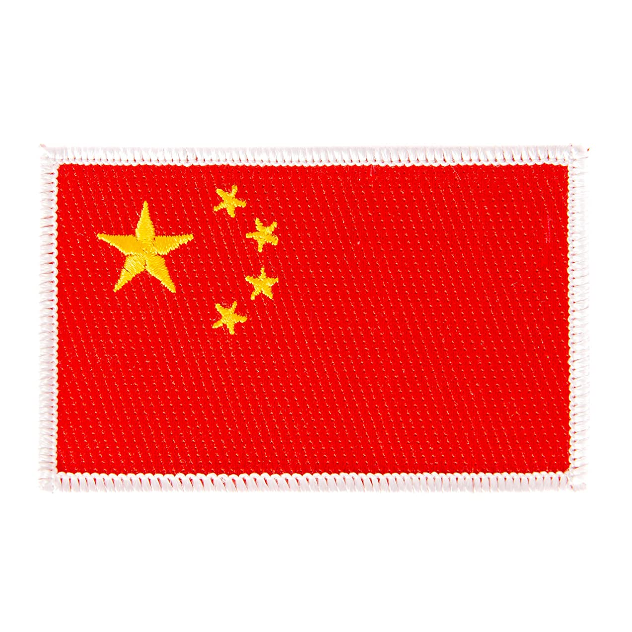 China Flag Patch Single 3.5Wx2.25H Iron On Sew Embroidered Tactical Morale Back Pack Hat Bags (Single Patch)