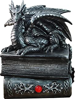 "DWK 8"" Guardian of Bibliophiles Decorative Medieval Gothic Dragon Trinket Stash Box.."