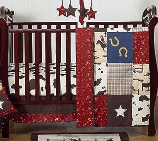 Wild West Western Horse Cowboy Baby Boy Bedding 4 Piece Crib Set