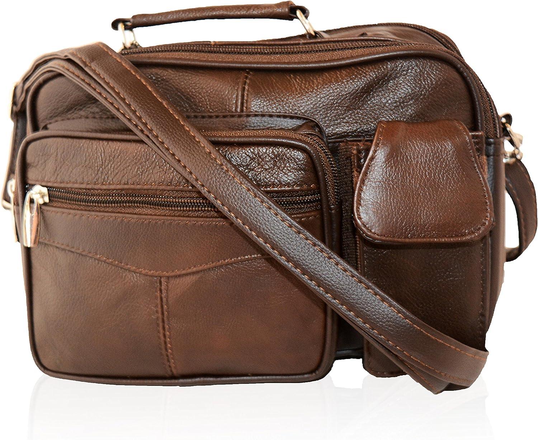 AFONiE Genuine Fashion Casual Messenger CrossBody Leather Shoulder handbag