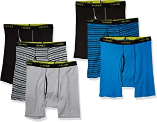 Hanes Men's Tagless Sports-Inspired Boxer Brief