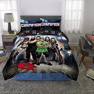 Franco Kids Bedding Super Soft Comforter and Sheet Set, 5 Piece Full Size, WWE Armageddon