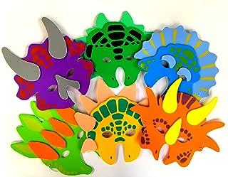 Playscene 1 Dozen Foam Dinosaur Masks, Party Favors for Children (12 Dinosaur Masks)