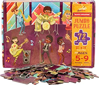 Little Likes Kids - Musical Crossroads - 72 Piece Jumbo Puzzle - Kids Jigsaw Floor Puzzle for Music-Loving Toddlers Boys G...