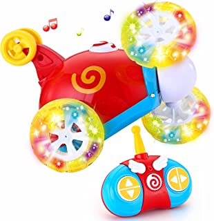 JOYIN Toy RC Radio Remote Control Cartoon Stunt Race Car for Toddlers
