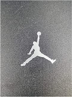 Wallner 2 pcs Metal Adhesive Air Jordan Jumpman Logo Vinyl Sticker Cellphone Laptop case Decal Stickers (Silver, 1.5inch)