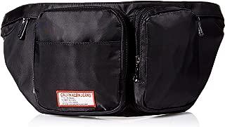 Men's Zippered Belt Bag with Logo Patch