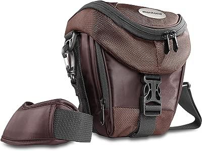 Mantona Premium Holster Bag for SLR Cameras  Brown  shoulder bag  quic...