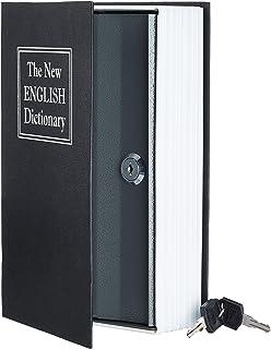 AmazonBasics Book Safe, Key Lock, Black