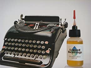 THE BEST 100%-synthetic oil for any typewriter, restores sticky or frozen keys, makes..