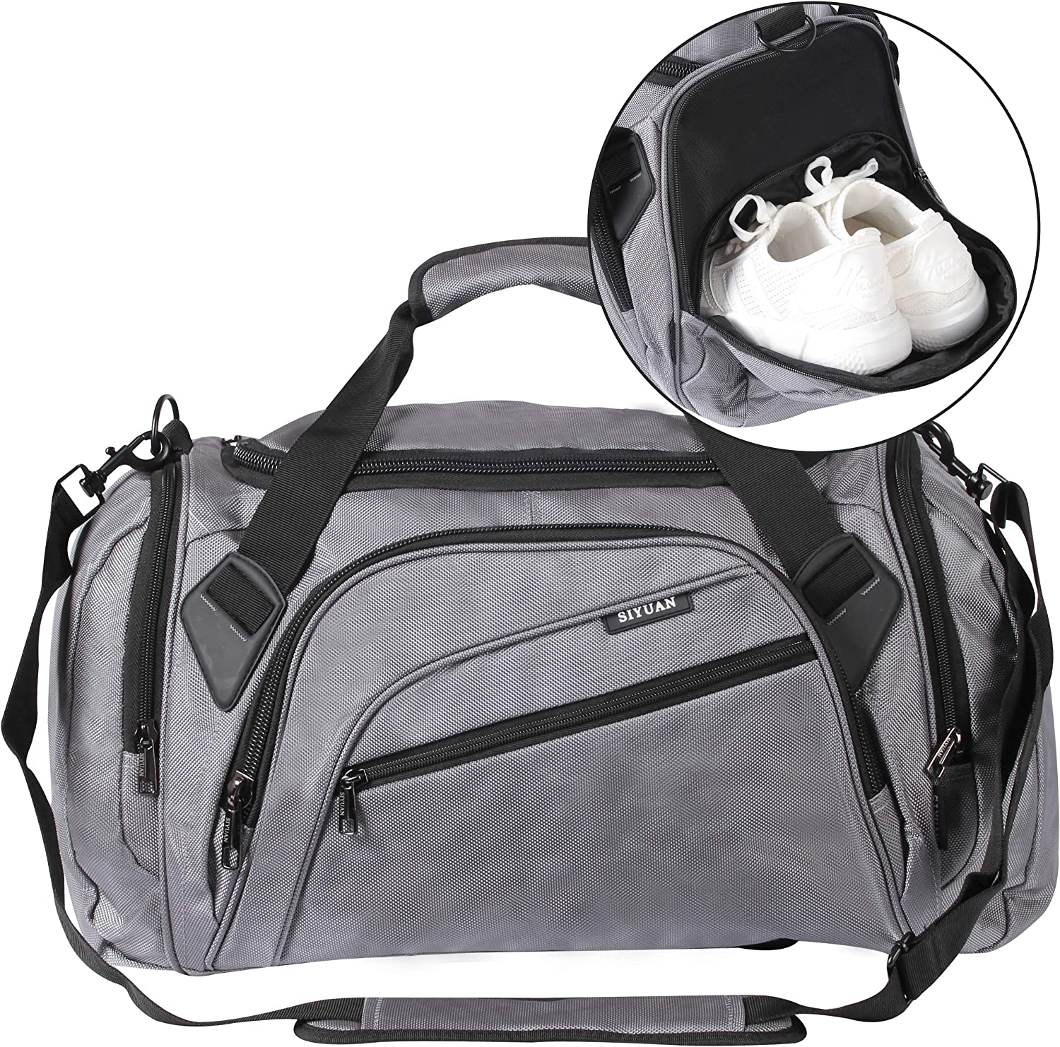 Free shipping New SIYUAN Sports Duffel Bag Water Max 41% OFF Gym with S Athletic Resistant