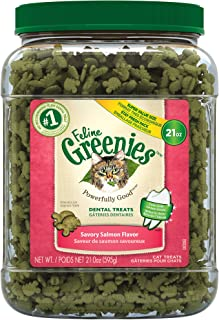 Greenies Feline Savory Salmon Dental Cat Treats