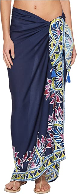 Trina Turk Lotus Batik Pareo Cover-Up
