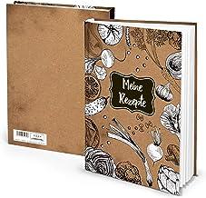 Logbuch-Verlag Tomma receptböcker DIN A4 olika mönster med och utan metallhörn ohne Metallecken brun/svart/vit
