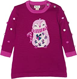 Hatley Kids - Cozy Penguin Mini Sweater Dress (Infant)