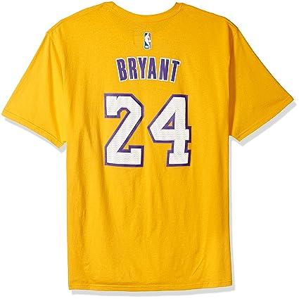NBA Los Angeles Lakers Gold The Go to Tee Kobe Bryant #24, Medium ...