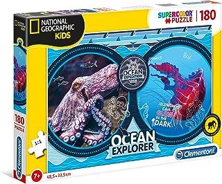 Clementoni 29205 National Geographic Barnpussel, 180 stycken – Ocean Expedition, Flerfärgad