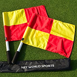 UEFA Linesman Flags - Pair of Quality Linesman Flags to Bring Your Soccer Club to The Top of The League! [Net World Sports]