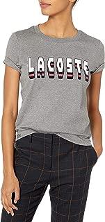 Lacoste Womens Short Sleeve Interlock Cotton Lacoste Logo T-Shirt