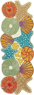 Beaded Table Runner 36inch, Glitz Table Runner,Decorative Table Runner,Farmhouse Table Runner,Rustic Bridal Shower Beaded Table Runner,Beaded Christmas Table runner-13x36 Orange Light Blue Multi