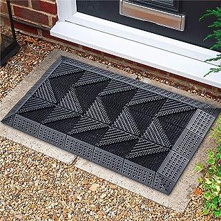SaikerMan Outdoor Door Mat, 23.6''x35.4'' DIY Heavy Duty Front Door Mat Outdoor, Door Mats for Outside Entry, Boots Scrape...