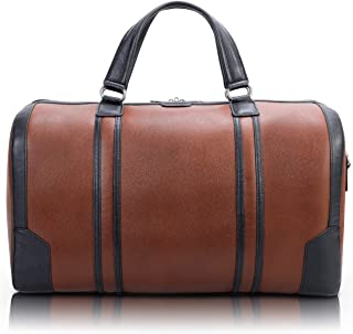"McKlein USA Kinzie 20"" Leather Two-Tone Tablet Carry-All Duffel (Brown)"