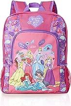 Mochila De Princesa De Disney Con Diseño De Princesa Bella Durmiente, Cenicienta, Rapunzel, Jasmine, Ariel | Bolsa De Disney Para La Escuela O Viajes | Mochila Rosa Y Morada Para Niñas