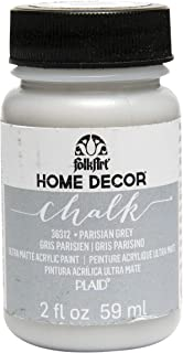 FolkArt 36312 Home Decor Chalk Furniture & Craft Paint in Assorted Colors, 2 ounce, Parisian Grey