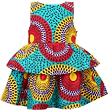 Girl's African Print Dress,Baby Girl Party Dress Ankara Special Occasion Dress, Wax Print Flower Girl Gown