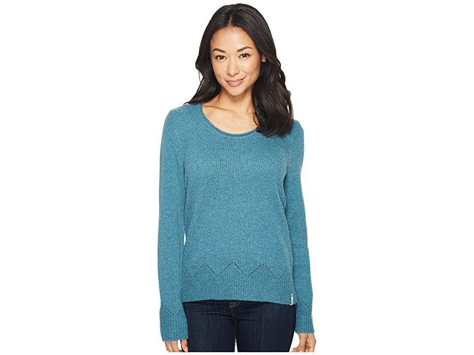 Woolrich Maple Way Crew (Ocean Blue Heather) Women