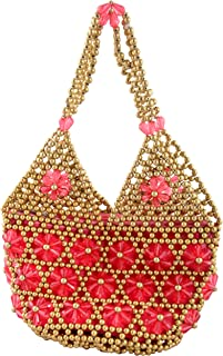Maitreyee Enterprise Women's Handbag (Maitreyee Enterprise 15_Pink & Gold)