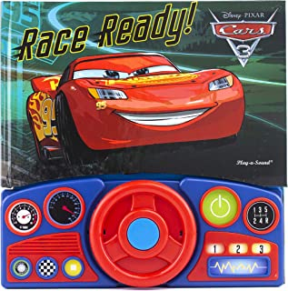 Pixar - Cars 3 Steering Wheel Sound Book - Race Ready! - PI Kids (Disney Pixar Cars 3)