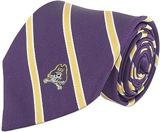 ZEP-PRO NCAA ECU Pirates ربطة عنق بشريط رفيع من الحرير المنسوج للرجال مقاس 2، أصفر وأرجواني، مقاس واحد