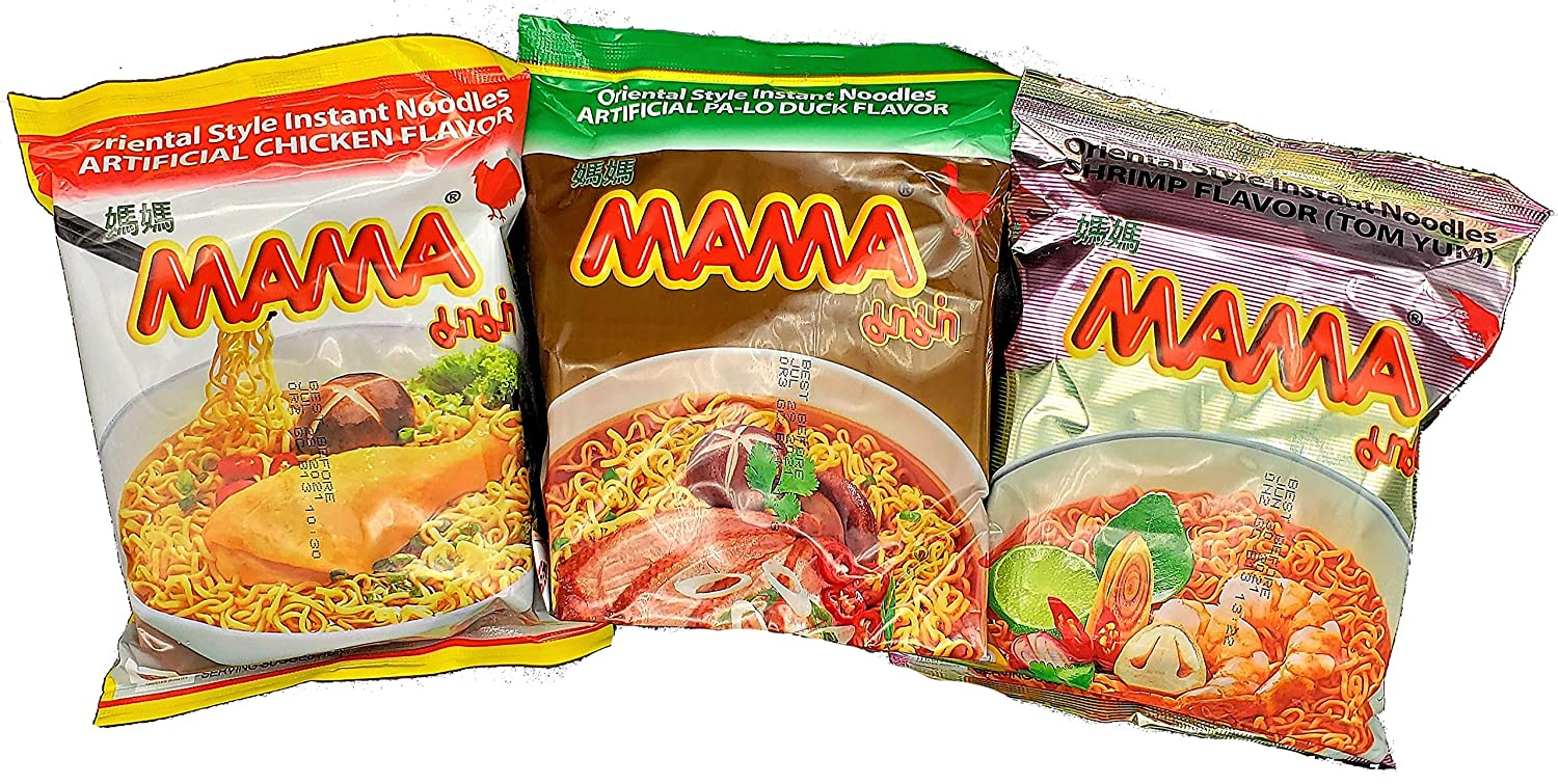 MAMA New Free Shipping Ramen Oakland Mall Instant Noodles Variety Pack Pa Duck To Lo Chicken