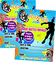 Video Gamer Themed DANCE Battle Party Invite Set of 12 (Invitations)