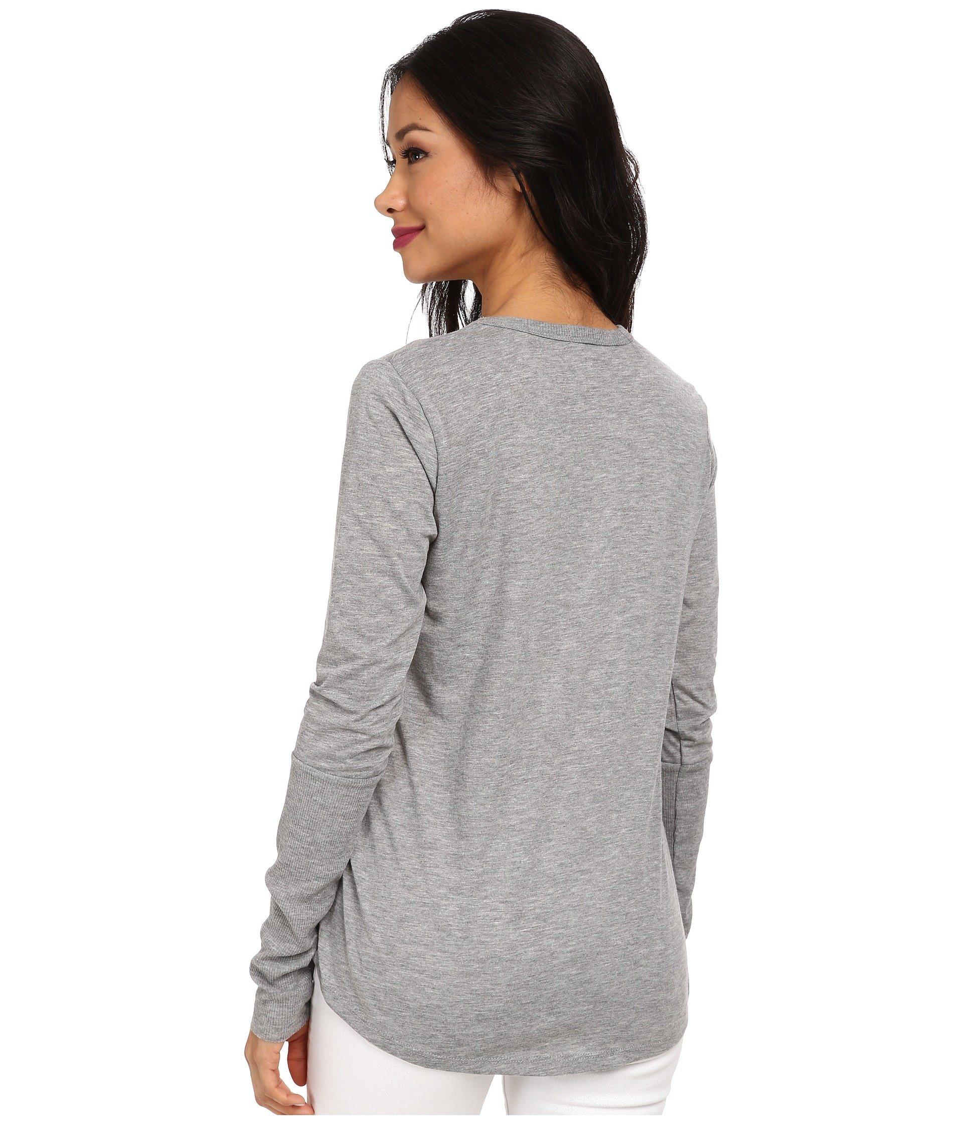 Alternative scoop neck t shirt long sleeve heather grey for Long sleeve scoop neck shirt