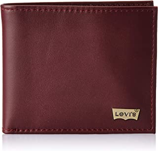 Levi's Maroon Men's Wallet (Basic Coin Pocket Wallet)