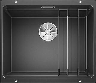 BLANCO ETAGON 500-U – Granitspüle aus SILGRANIT für die Küche für 60 cm breite Unterschränke – Unterbau – grau – 522227