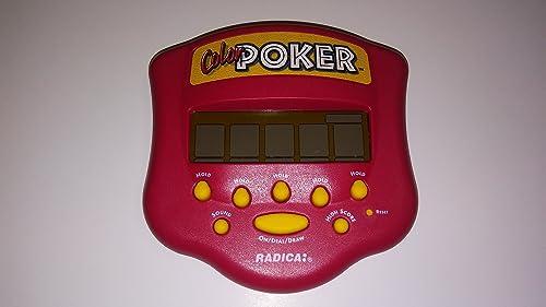 Radica Farbe Poker Handheld Game(1999 version, Radica) by Made by Radica