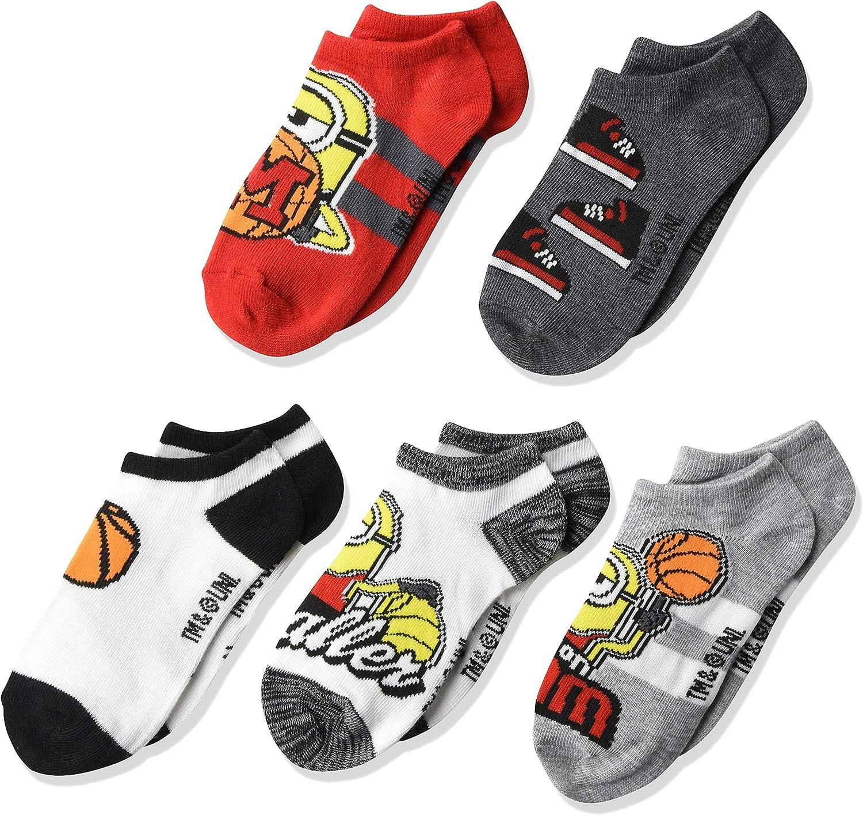 Despicable Me Boys 5 Pack No Show Socks