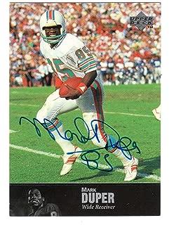 1997 Upper Deck Football Legends Autograph Card #AL55 Mark Duper Miami Dolphins