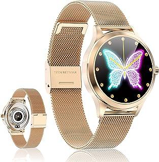 Smartwatch Reloj Inteligente - SmartWatch Mujer Impermeable con Monitor de Sueño Pulsómetros Cronómetros Contador de Calor...