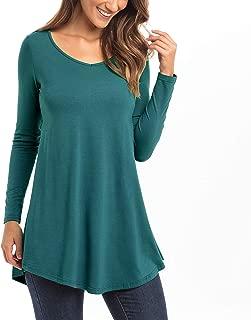 Bella Women's Designer V-Neck Short & Long Sleeve Flare Tunic