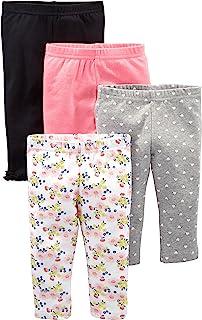 4-Pack Pant - Infant-and-Toddler-Pants Bebé-Niñas