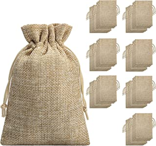 Burlap Bags with Drawstring -(70 Pieces), Burlap Bags with Drawstring-Burlap Gift Bag Jewelry Pouches for Wedding Favors, Party, DIY Craft and Christmas- 5.40x3.74 inch