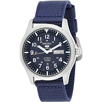 Seiko Men's Analogue Automatic Watch with Textile Strap SNZG11K1