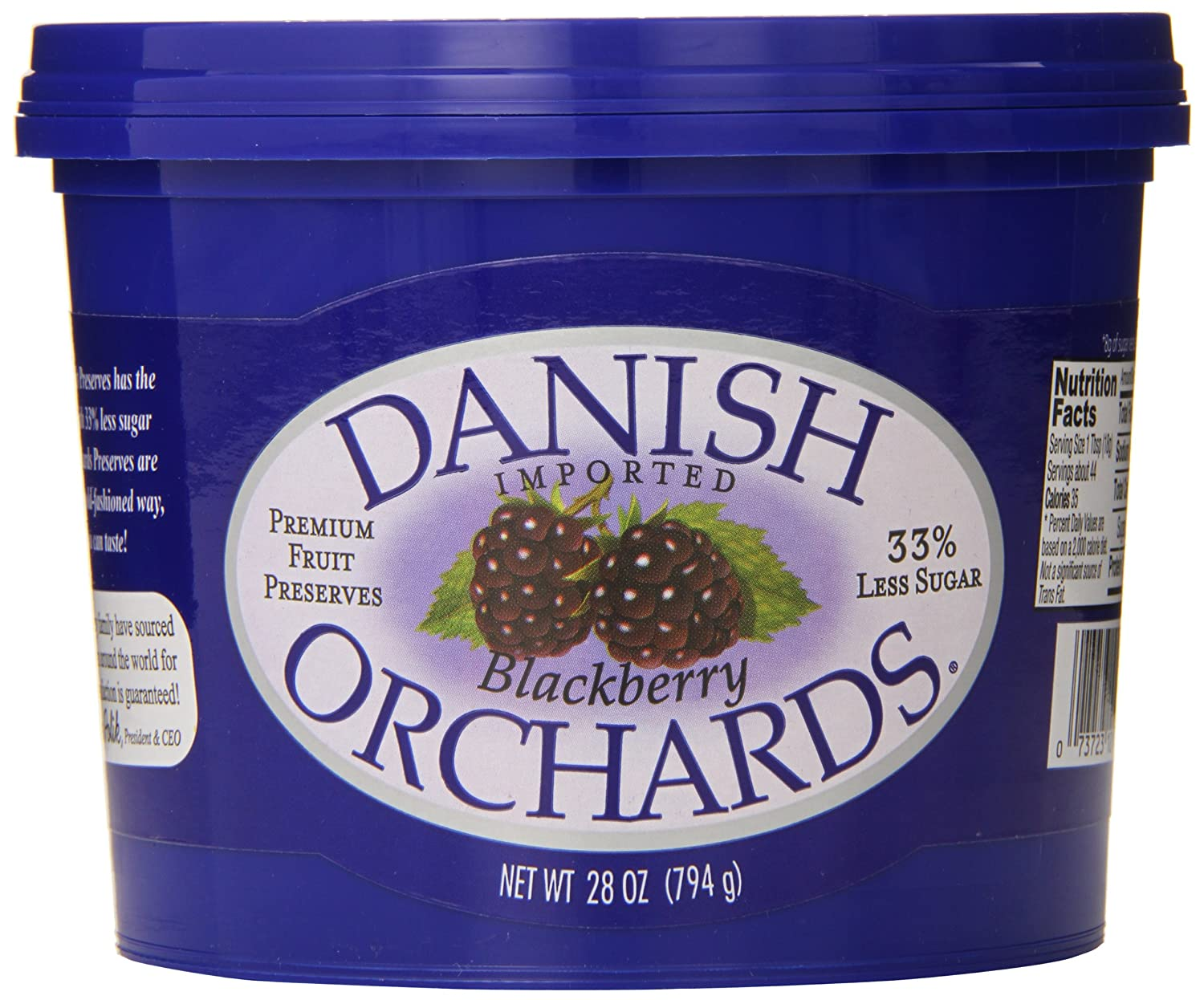 Danish Orchards Preserves Blackberry 28 Ounce Ranking quality assurance TOP2 of Pack 12