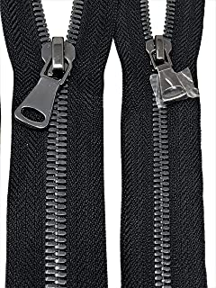 Black Glossy Two-Way Backpack or Luggage Zipper 5MM or 8MM Gun Metal Teeth Closed 40 Inches (can be Made Longer/Shorter) (8MM)