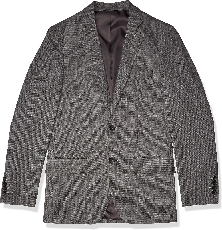 Haggar Super beauty product restock quality top! Men's Stretch Subtle Grid Slim Side Genuine Suit 2-Button Separat